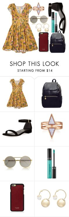 """""""Untitled #1430"""" by cashtonlv on Polyvore featuring Stuart Weitzman, Le Specs, Sephora Collection, Vianel and Witchery"""