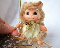 BEIGE Brown Hamster Mouse  Baby  Cute Baby Doll  by larysadolls, $26.00