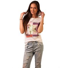 Tricou Cu Imprimeu Let's Find A Place To Get Lost White - Tandos Lost, How To Get, Let It Be, Casual, Random, Casual Outfits