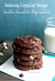 Subway Copycat Double Chocolate Chip Cookies Recipe