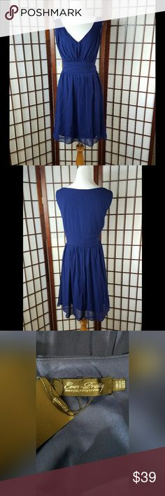 """EVER PRETTY EMPIRE WAIST LINED  COCKTAIL DRESS New with tags  EVER PRETTY SIZE 16 Empire waist dress style  Sleeveless  LINED  Solid pattern  Blue color  Made of polyester  Zip in the left side for closure See photos for more details   Measurement Approximate  Pit to pit 21""""  Waist 38""""  Shoulder to hem 37""""    #3 Ever Pretty Dresses"""