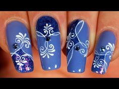 Nail Art Tutorial Arabesque Madness | Tuto nail art folie d'arabesques | @Tartofraises on YouTube