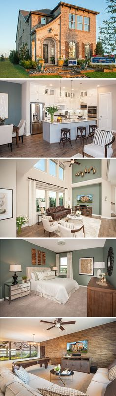 The Camborne by David Weekley Homes in Spicewood at Craig Ranch is a 3 or 4 bedroom home that features a study, an open kitchen and family room and a large owners retreat. Custom home features include various kitchen upgrades and a larger bathroom layout in the owners retreat.