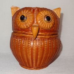 Fun owl basket that comes apart into two halves. Decorative and functional to put your money, keys or any treasure into. Item: Wicker Basket. Theme: Owl. Color: Brown. Country made in: People's Republic of China. | eBay!