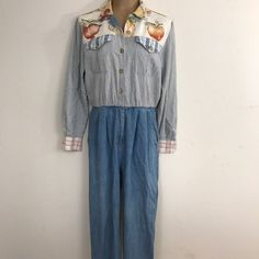 PG Collection 100% Cotton Denim Pin Striped Jumpsuit By Ginger Bort Size 10   Clothing, Shoes & Accessories, Women's Clothing, Jumpsuits & Rompers   eBay!