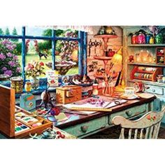 Buffalo Games Grandma Craft Shed Jigsaw Puzzle (2000 Piece), Multicolor