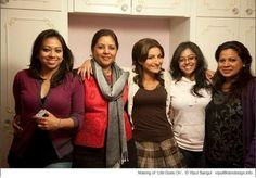 The costume team with Director Sangeeta Datta and actress Soha Ali Khan on the sets of Life Goes On
