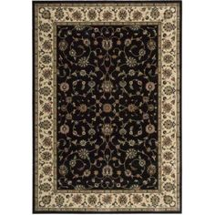 Nourison Persian Arts Collection Area Rug, Black