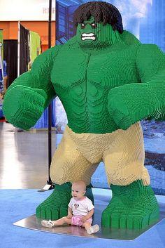 Incredible Hulk Lego creation.