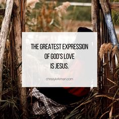 The greatest expression of God's love is Jesus. Savior, Jesus Christ, Christian Life Coaching, Gods Not Dead, My Lord, Gods Love, Verses, Salvador, Love Of God