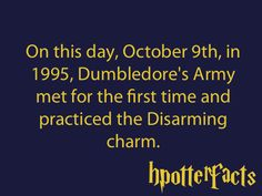 Happy Dumbledore's Army anniversary!!