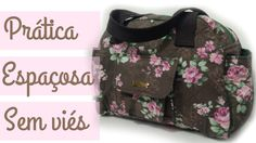 Como fazer - Bolsa Mariana Handmade Bags, Sewing Tutorials, Sewing Projects, Bag Making, Baby Dress, Patchwork, Diaper Bag, Quilts, Purses