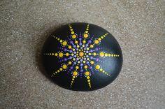 Hand painted purple and turquoise mandala stone. Seashell Painting, Dot Art Painting, Rock Painting Designs, Mandala Painting, Mandala Art, Stone Painting, Mandala Painted Rocks, Mandala Rocks, Rock Design