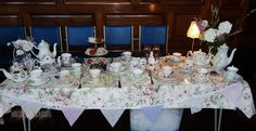 Beautiful Top Table display by Tea Rose Vintage China