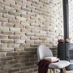 Plaquette de parement béton beige nuancé Auxonne