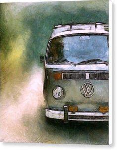 Vw Bus Photograph - Volkswagen Camper Van by Michelle Calkins Volkswagen Bus, Vw T1, Volkswagon Van, Van Vw, Camper Van, Van Hippie, Hippie Art, Combi Ww, Vw Minibus