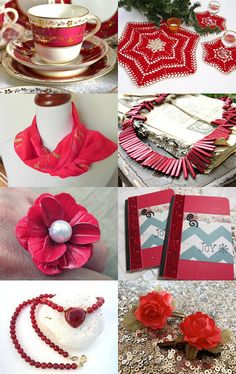 Ruby Red - ATCTTeam - afternoon tea atctteam beads bracelet christmas crochet flowers gold hair accessories necklace red scarf soap tea tea cup teajay wickstead wicksteads