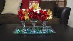 Centro de mesa con copas | DIY Decoración Navidad - YouTube