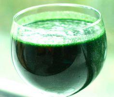 Super Groene Smoothie met rietsuikerkristallen