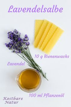 Lavender ointment calms the body and mind- Lavendelsalbe beruhigt den Körper und Geist From the purple flowers of lavender can be conjured up in an instant an aromatic ointment that can relax not only your body but also your nerves. Diy Beauté, Cosmetic Companies, Beauty Recipe, Natural Cosmetics, Doterra, Purple Flowers, Health And Beauty, Natural Remedies, The Balm