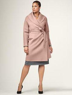 cozy plus sized coat