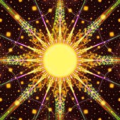 Sun Fractal by Cory Ench Sun Moon Stars, My Sun And Stars, Fractal Design, Fractal Art, Good Day Sunshine, E Mc2, Sun Art, Choose Joy, Mellow Yellow