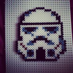 Star Wars Stormtrooper hama beads by albaperii