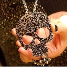 Spotted while shopping on Poshmark: Skull Necklace! #poshmark #fashion #shopping #style #Jewelry