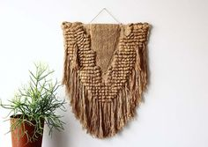 Large Fiber Textile Art Wall Hanging by GallivantingGirls on Etsy