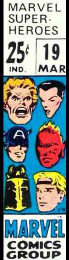 Marvel Super-Heroes corner box art - Kazar, Marvel Boy, Black Knight and the Invaders (Captain America, Human Torch and Sub-Mariner)