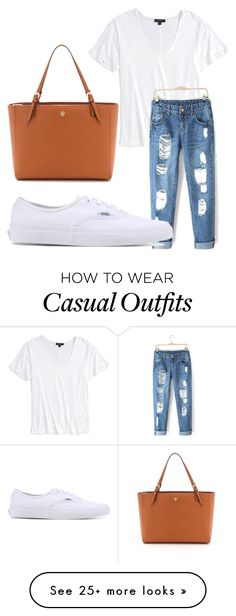 """""""Casual"""" by cami-eamon on Polyvore featuring Tory Burch, Topshop and Vans"""