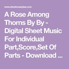A Rose Among Thorns - Morricone - Digital Sheet Music Individual Parts, Score, Set Of Parts Music Notes, My Music, Best Song Ever, Writing About Yourself, Double Bass, Original Music, Digital Sheet Music, Beautiful Songs, Make A Wish