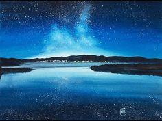 Watercolor Night Sky III Painting Demonstration - YouTube