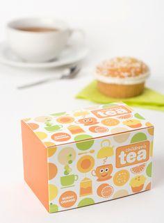 Children's Tea by Sara Strand, via Behance Kids Packaging, Tea Packaging, Food Packaging Design, Packaging Design Inspiration, Brand Packaging, Tea Design, Blog Design, Design Ideas, Design Concepts