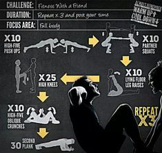 I miss doing these crunches. I'm going to make Mark let me do this ...