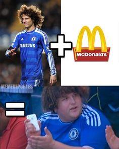 David Luiz   McDonalds