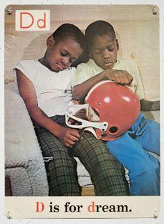Black ABCs Flashcards D is for dream American Alphabet, Vintage Black Glamour, Black Image, Black Pride, African Diaspora, My Black Is Beautiful, African American History, Black History Month, Black People