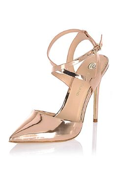 4cdca89e0ef93f Turn your outfit up a notch with some glam gold heels. A flattering pointed  toe