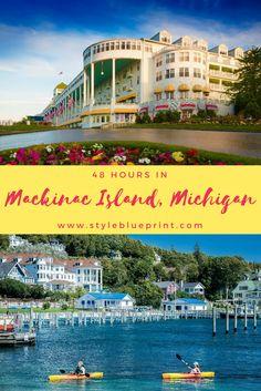 Mackinac Island, Michigan travel guide. Every thing you need to know to plan you next vacation! #travel #grandhotel #exploremichigan #styleblueprint