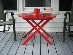 Adirondack side table ~ using recycled pallet wood | Do It Yourself Home Projects from Ana White