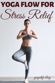 If you love yoga then you will find that you can relieve stress through some easy yoga flow. Yoga has so many benefits for the mind, body, and soul. Best yoga poses and benefits for stress relief even for beginners. Easy Yoga For Beginners, Yoga Sequence For Beginners, Yoga Routine For Beginners, Beginner Yoga, Strive Fitness, Enjoy Fitness, Yoga Fitness, Yoga Workouts, Yoga Exercises