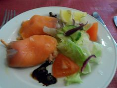 Smoked Salmon & Prawn starter at Bella Italia restaurant in North Berwick, Scotland