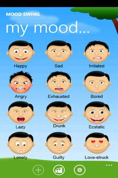 Mood Swing ($0.00) enables you to track your feelings and share them with the world in the most unique and elegant way.    Start sharing your Mood Swing today for free!  Buy full version to get our complete list of mood images.    Just pick your mood (Happy, Sad, Lonely...) and express it to your friends on facebook and twitter with our beautiful and expressive images.