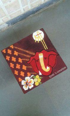 Rangoli Borders, Rangoli Patterns, Rangoli Ideas, Simple Rangoli, Indian Rangoli Designs, Beautiful Rangoli Designs, Learn To Sketch, Diwali Craft, Colourful Art