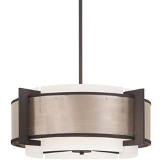 View the Kovacs P924-684 4 Light Drum Pendant from the Mainly Mesh Collection at LightingDirect.com.