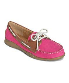 Look at this #zulilyfind! Pink Velocity Boat Shoe #zulilyfinds