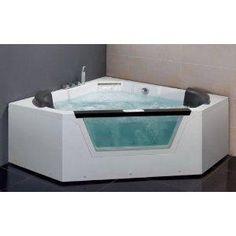 Amazon.com: EAGO AM156 5\' CORNER LUXURY CLEAR WHIRLPOOL HOT TUB + HEATER & STEREO: Kitchen & Dining