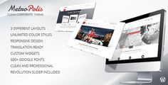 Metropolis - Clean Multipurpose Wordpress Theme . Metropolis has features such as High Resolution: No, Widget Ready: Yes, Compatible Browsers: IE8, IE9, IE10, IE11, Firefox, Safari, Opera, Chrome, Edge, Software Version: WordPress 4.5.x, WordPress 4.5.2, WordPress 4.5.1, WordPress 4.5, WordPress 4.4.2, WordPress 4.4.1, WordPress 4.4, WordPress 4.3.1, WordPress 4.3, WordPress 4.2, WordPress 4.1, WordPress 4.0, WordPress 3.9, WordPress 3.8, WordPress 3.7, WordPress 3.6, Columns: 4+