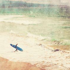 Surfer Poster großer Strand Wohnkultur von MyanSoffia auf Etsy, $150.00