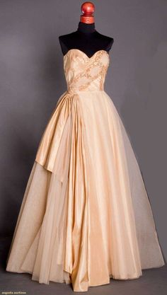 1950's Jeweled Ballgown